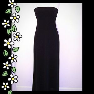 BCBGMaxAzria Dresses - BCBGMaxAzria strapless maxi dress w/back buckle